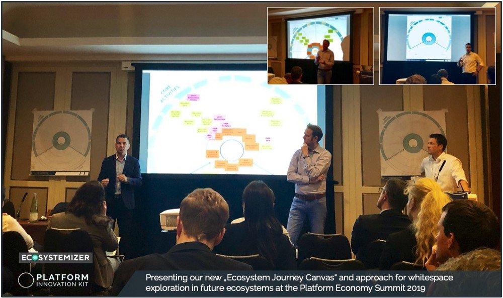 Publicación del lienzo del viaje de los ecosistemas en la Cumbre de la Plataforma Económica de 2019